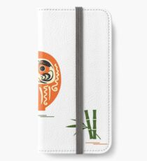 Daruma - Japanese traditional doll roly-poly. iPhone Wallet