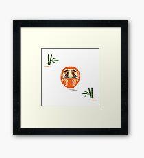Daruma - Japanese traditional doll roly-poly. Framed Print