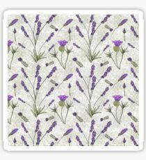 Lavender Floral Pattern: Summer Dreams... Sticker
