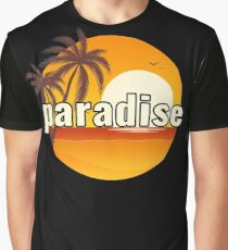 PARADISE // SUNSET ON THE BEACH Graphic T-Shirt