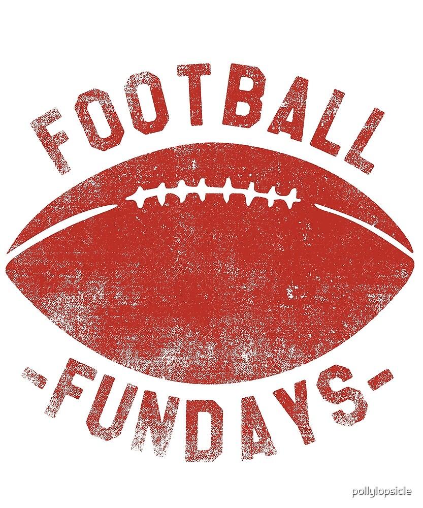 Football Fundays - Sunday Funday Vintage Shirt by pollylopsicle