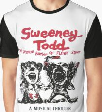 Sweeney Todd The Demon Barber of Fleet Street Graphic T-Shirt