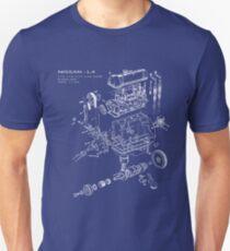 Nissan L4 White Print Unisex T-Shirt