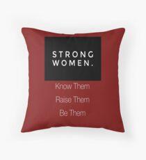 Strong Women Throw Pillow