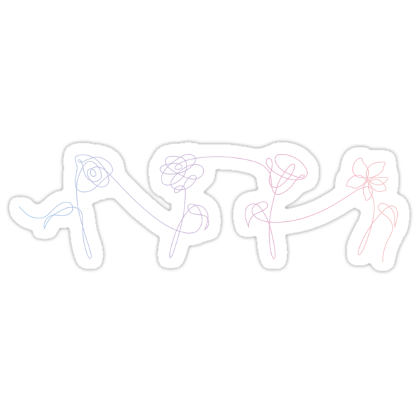 Quot Bts Love Yourself Her Flowers Gradient Quot Stickers By