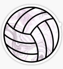 Black and White Marbled Volleyball Sticker