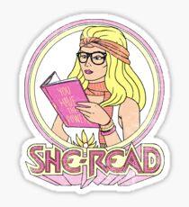 She-Read Sticker