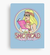 She-Read Canvas Print