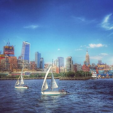Sailing On The Hudson River - New York City USA by mimmi12