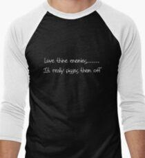 Love Thine Enemies Men's Baseball ¾ T-Shirt
