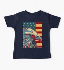 American Patriotic Eagle Bald Baby Tee