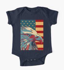 American Patriotic Eagle Bald One Piece - Short Sleeve