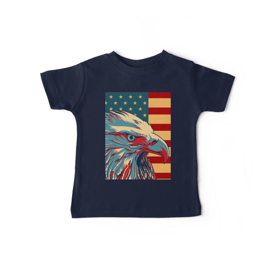 American Patriotic Eagle Bald by CroDesign