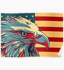 American Patriotic Eagle Bald Poster