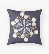 Tide Pool Beach Mandala 2 - Plum - Watercolor Throw Pillow