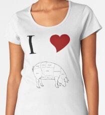 I Love Pork Women's Premium T-Shirt