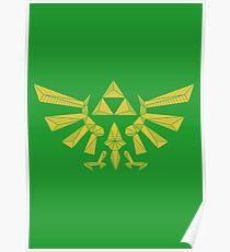 The Legend of Zelda Geometric Poster