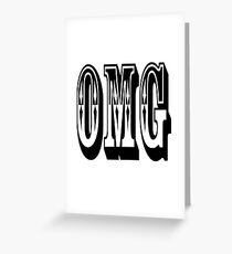 OMG, Exclamation, Oh my Gosh, God, Goodness. OUTLAWED MOTORCYCLE GANG Greeting Card