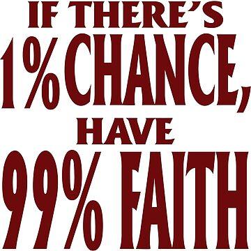 1% chance 99% faith by Ivanslin