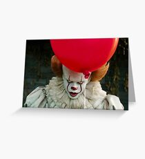Clown and balloon Greeting Card