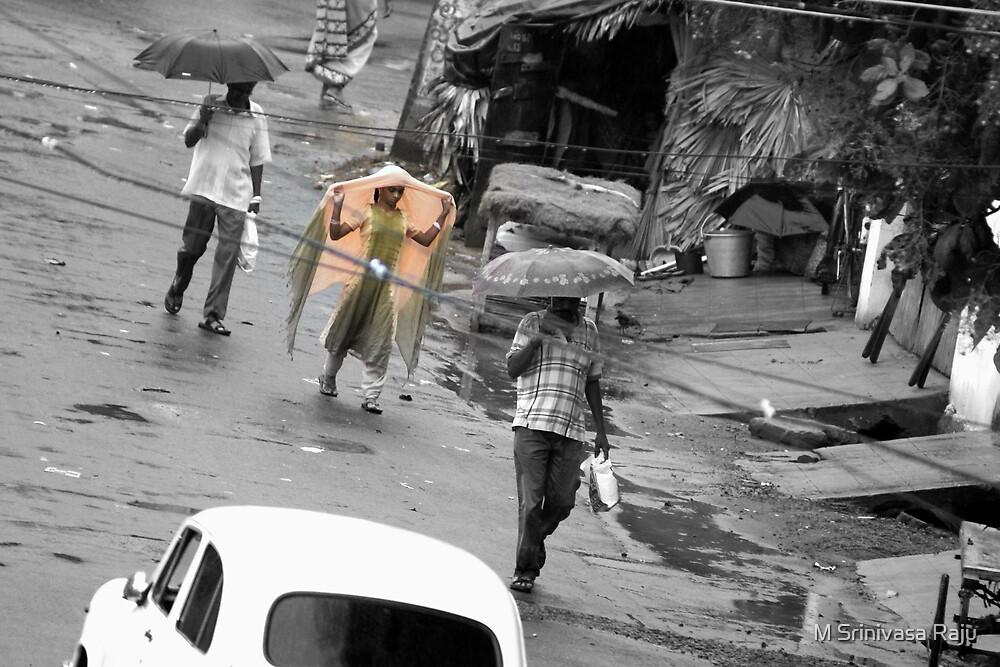 Rain Day - Girl  by M Srinivasa Raju