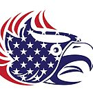 USA Eagle Bald Flag  by CroDesign