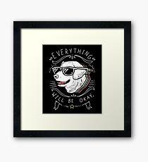 Dog Shirt Framed Print