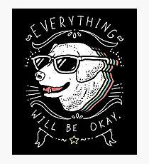 Dog Shirt Photographic Print