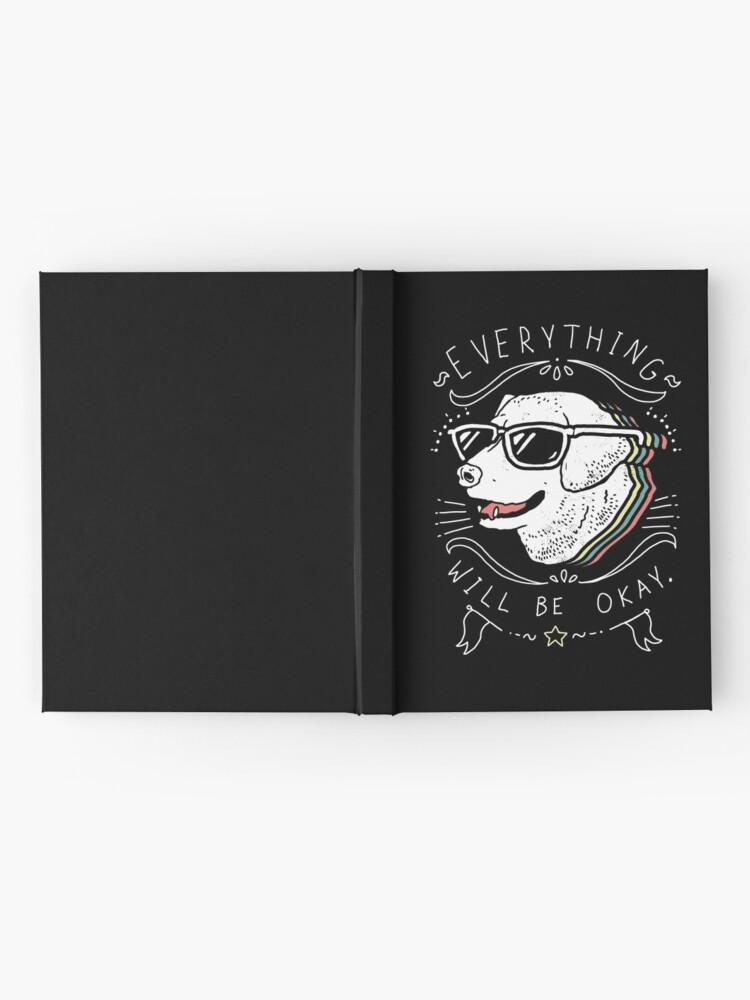 Alternative Ansicht von Hundehemd Notizbuch