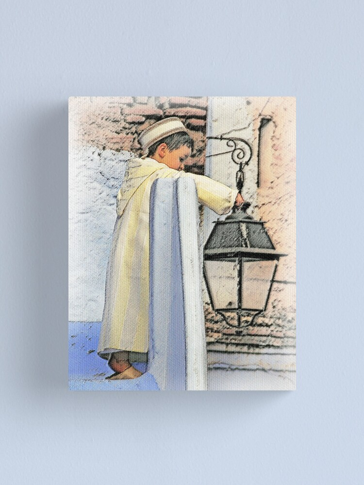 Alternate view of A boy and a lamp Canvas Print