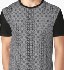 HEXAGON1 BLACK MARBLE & GRAY COLORED PENCIL (R) Graphic T-Shirt