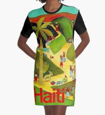 HAITI : Vintage Travel and Tourism Advertising Poster Graphic T-Shirt Dress