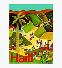 HAITI : Vintage Travel and Tourism Advertising Poster Photographic Print
