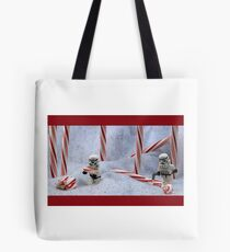 Candy Cane Forest Tote Bag