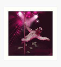 Lámina artística Stripper Sloth