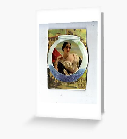 Fishbowl Existence Greeting Card
