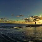 The entrance to Nassau Harbor. by Timothy Gass