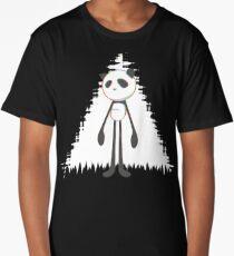 Pandalien glitch white Long T-Shirt