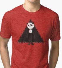 Pandalien glitch black Tri-blend T-Shirt