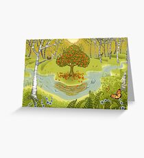 Magic forest Greeting Card