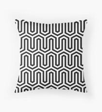 Egyptian Motif, Black and White Throw Pillow