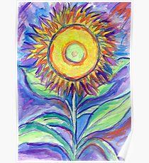 Flagler Beach Sunflower Poster