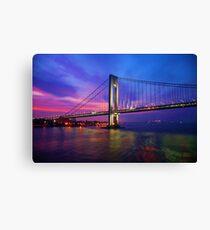 Verrazano Narrows Bridge Digital water color Canvas Print