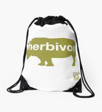Herbivore Green Drawstring Bag