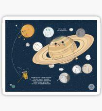 Goodbye Cassini Spacecraft Sticker
