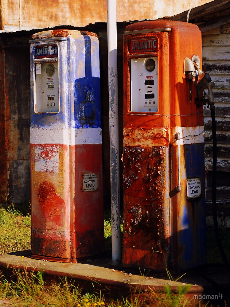 Vintage Gas Pumps by madman4