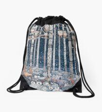 Owl Forest Drawstring Bag