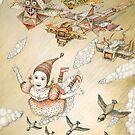 «volar chica cometa» de Ruta Dumalakaite