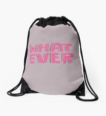 Lettering Whatever.  Drawstring Bag