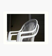 THE original White Plastic Chairs Art Print